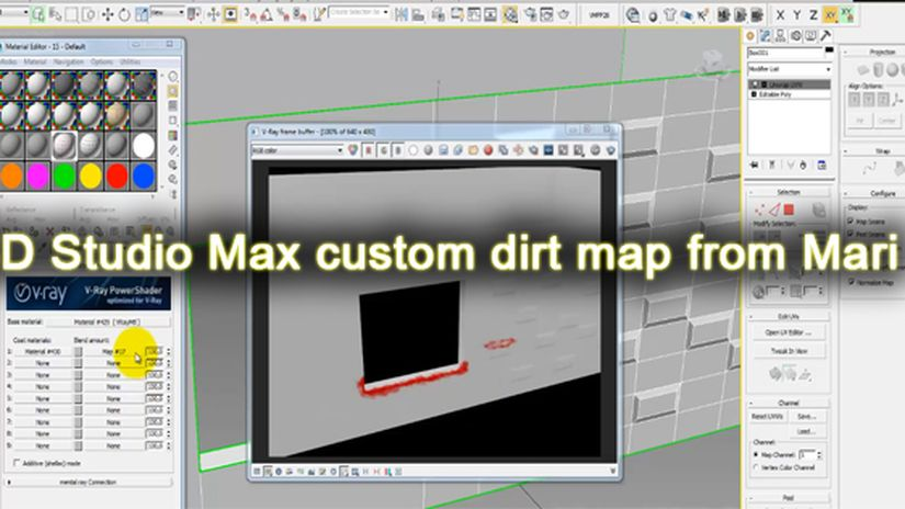 3D Studio Max custom dirt map from Mari