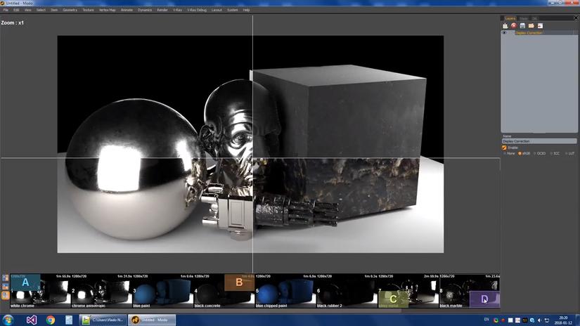 V-Ray Next: anteprima del Frame Buffer 2