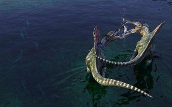 Spinosauri a pesca