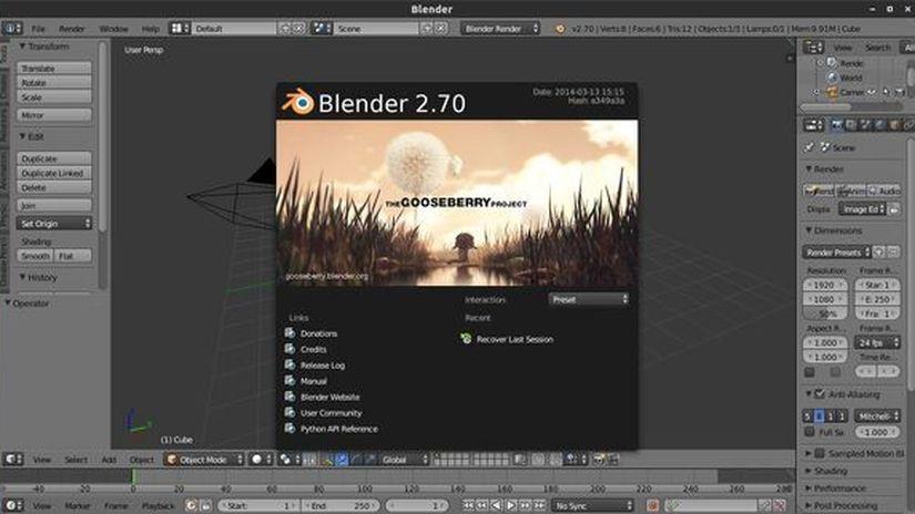 Blender 2.70 final version