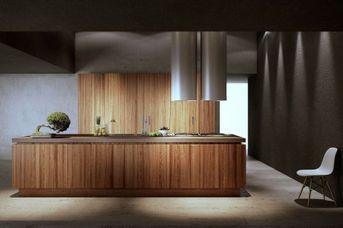 Cucina in legno-pietra