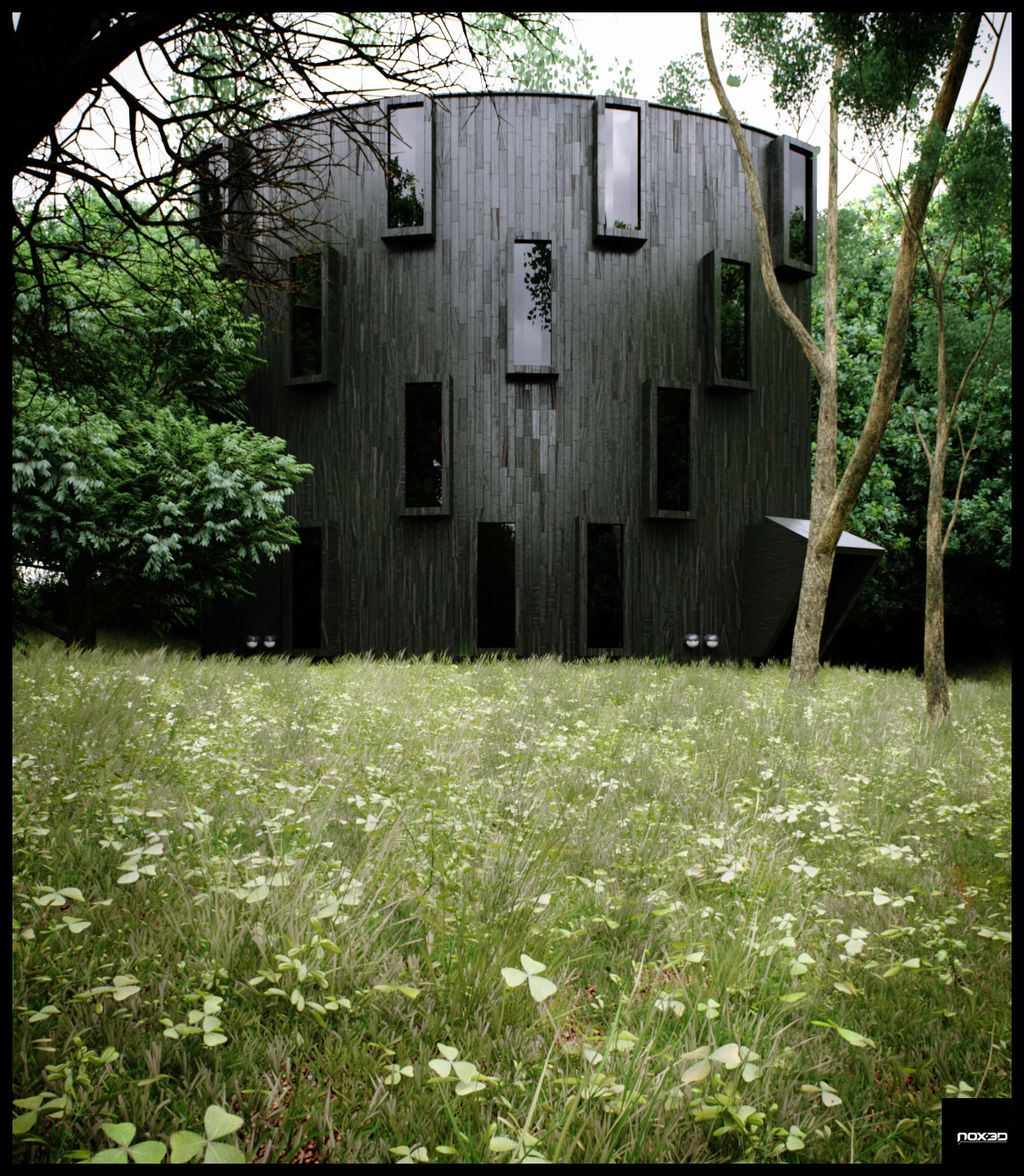 House in the woods..