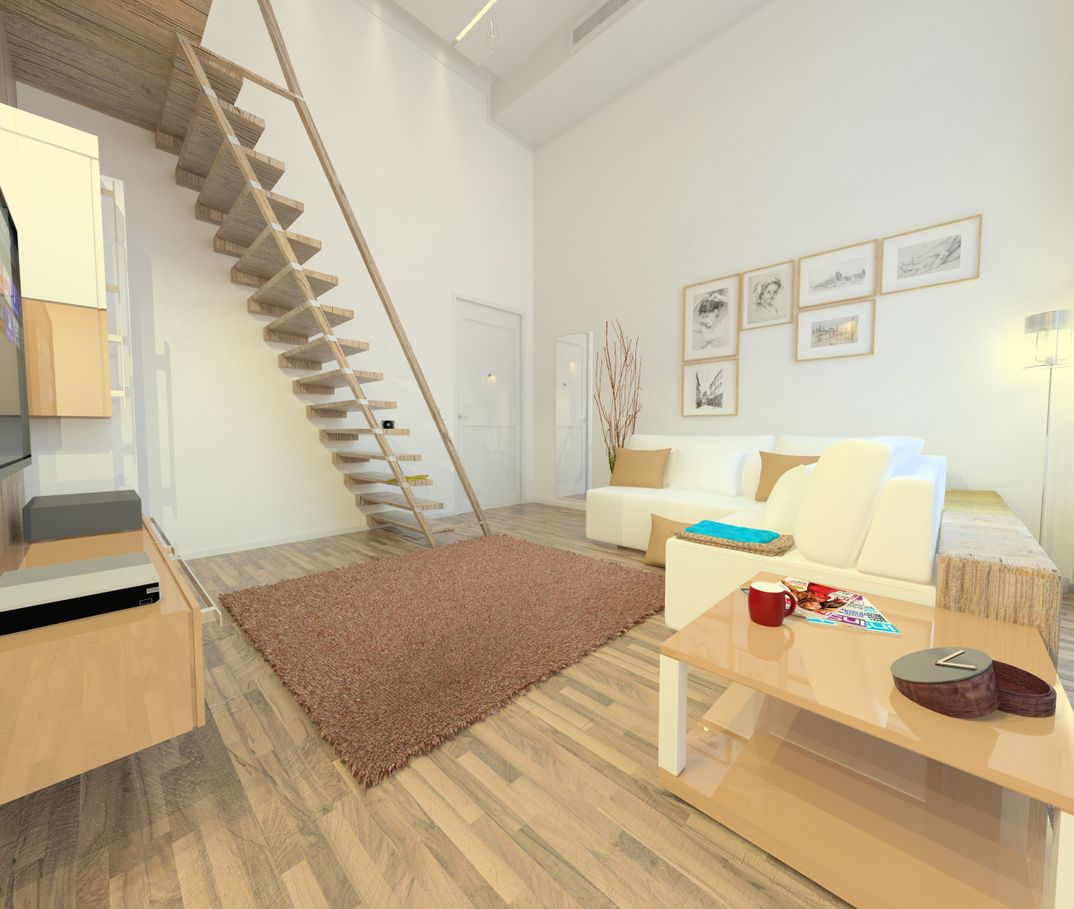 progetto piccolo loft