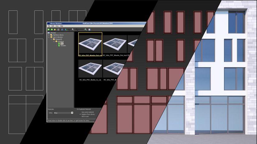 Finestre parametriche per 3ds Max e RailClone