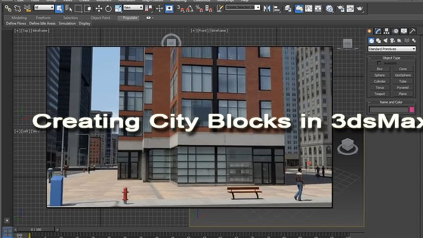 Creating City Blocks in 3dsMax