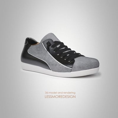 3d modeling and rendering junior sneaker