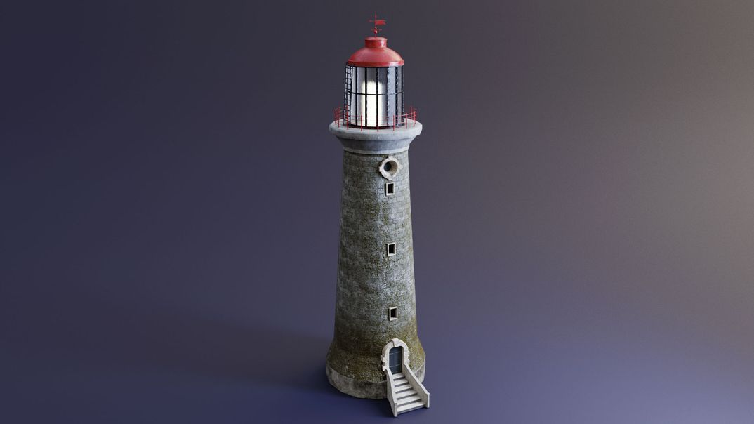 Lighthouse lowpoly