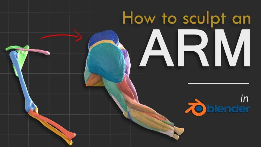 Come modellare un braccio con Blender