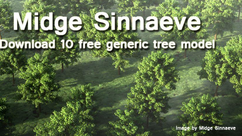 10 free generic tree models by Midge Sinnaeve
