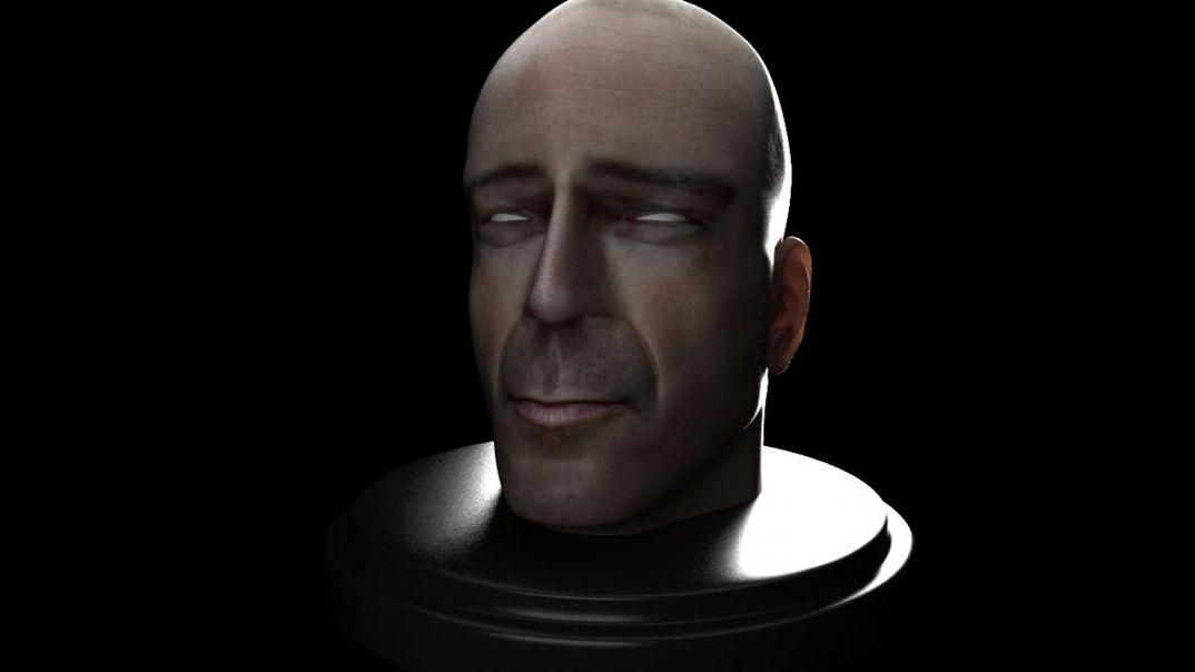 Bruce Willis Head Modeling