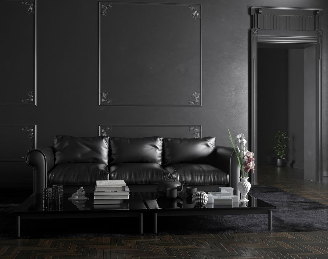 Living room in black