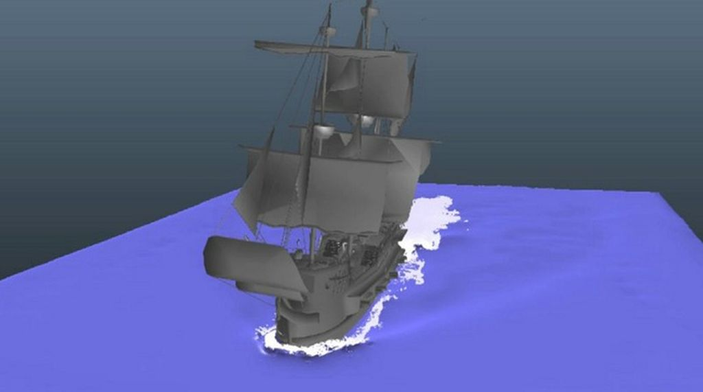 Realflow 2013: Ship first test
