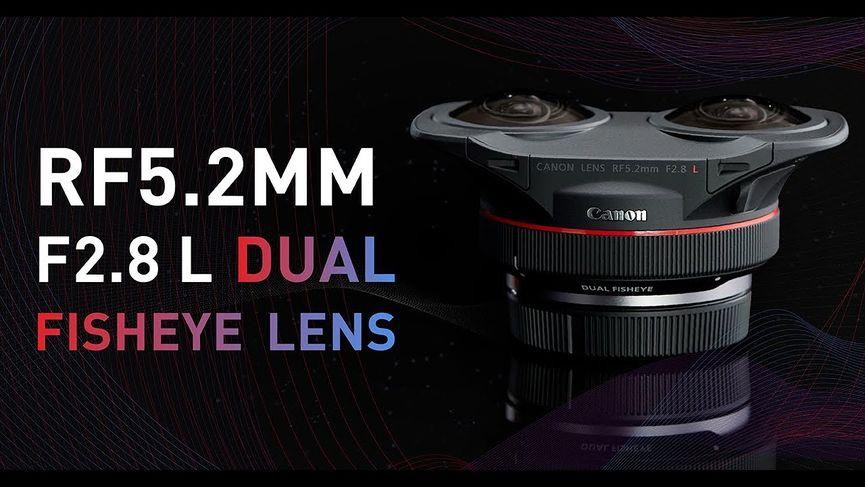 Canon presenta il primo obiettivo al mondo che riprende 3D stereoscopico a 180° VR