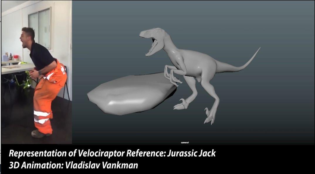 Velociraptor 3D Animation