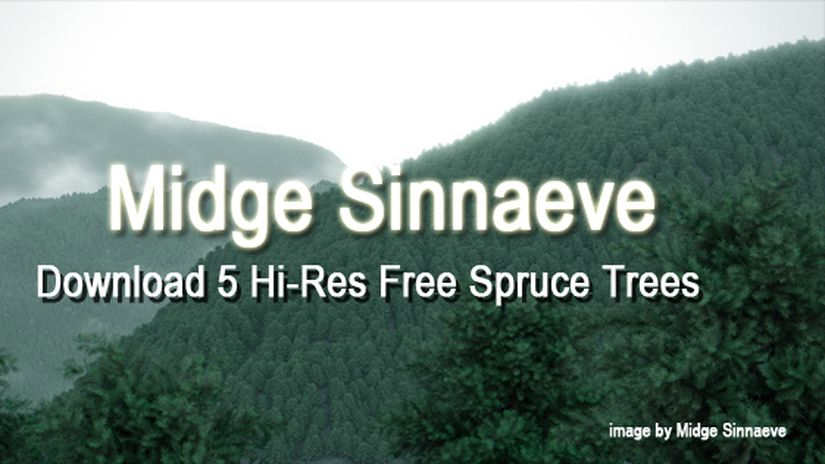 5 Hi-Res Free Spruce Trees
