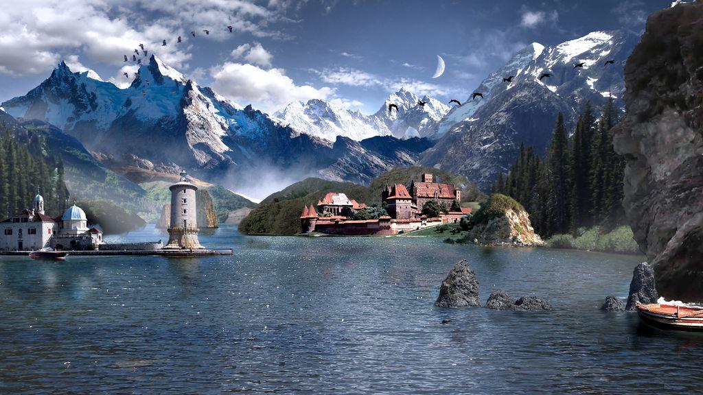 Matte Painting - Castle Lake
