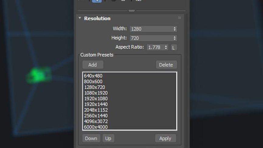 Camera Resolution Mod per 3ds Max