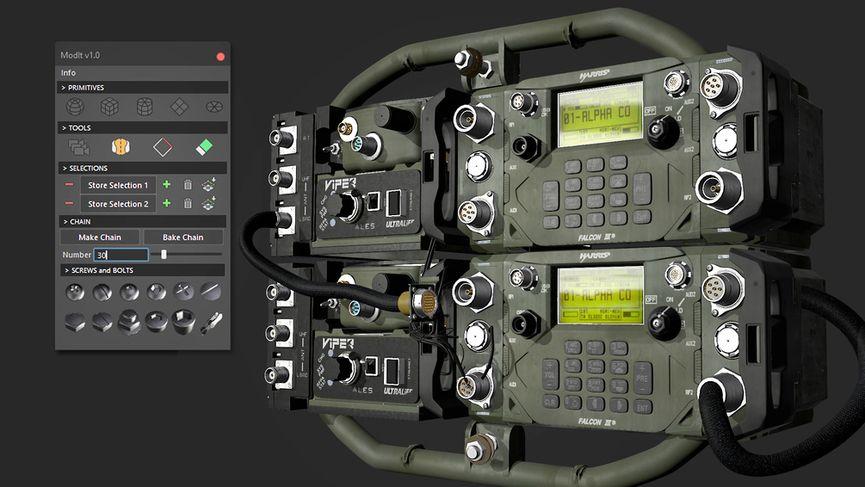 ModIt per Maya: un tool per l'hard surface modeling