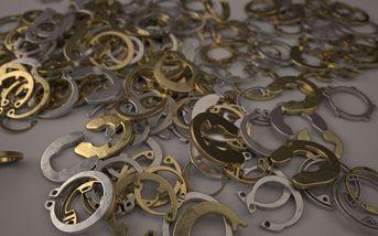 3D Kitbash-set - Retaining Rings
