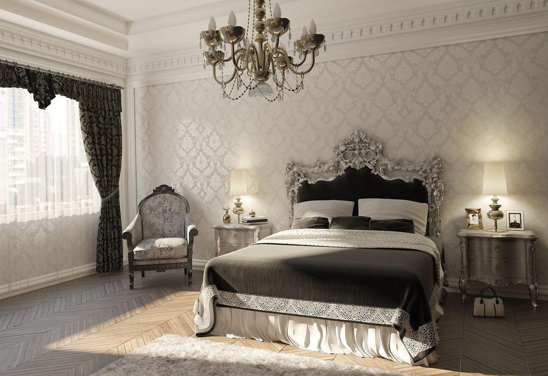 camera da letto stile neoclassico - grafico3DStudioMax