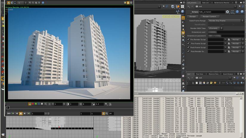 OctaneRender development  for Nuke, MotionBuilder,  Houdini, Digital Molecular Matter Engine and Unreal Engine 4