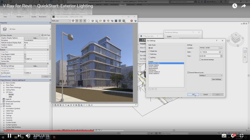 V-Ray per Revit: Exterior Lighting Tutorial