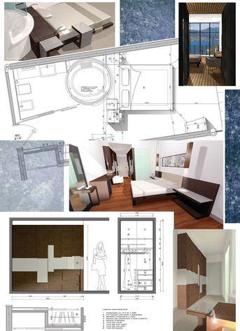 Progetto di camera d'albergo