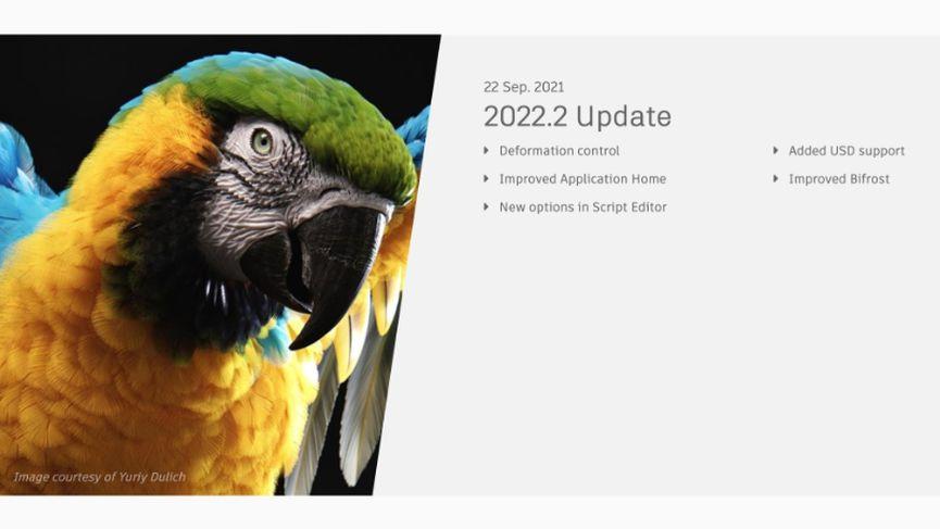Autodesk rilascia Maya 2022.2