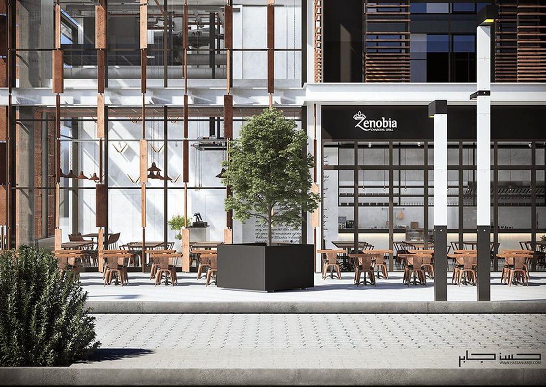 Industrial Restaurant Zenobia .Dubai