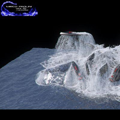 Realflow/Houdini:Alien spaceship RnD