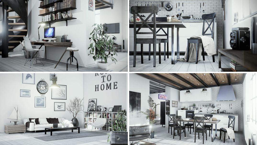 Archviz loft project Unreal Engine 4.13