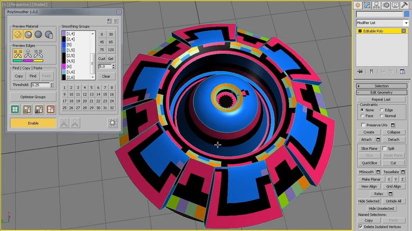 PolySmoother 1.0 per 3ds Max