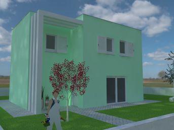 Render esterno casa moderna