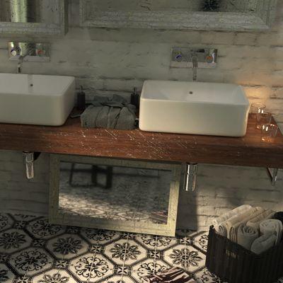 Il bagno delle cornici