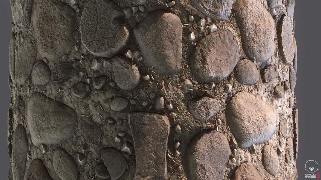 Terreno con rocce procedurali. 100% designer