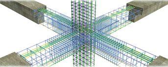 Nodo strutturale trave/pilastro in cemento armato