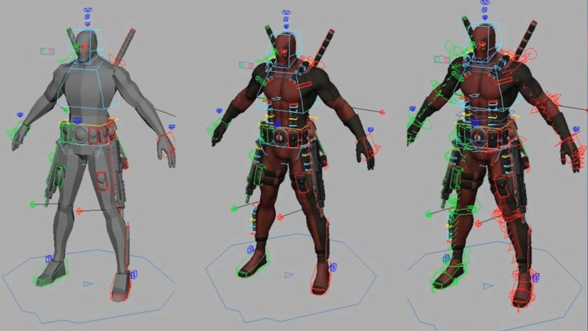 Deadpool rig per Maya - free to download