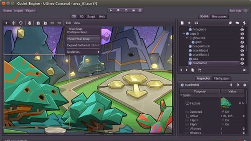 Godot open source game engine 1.0
