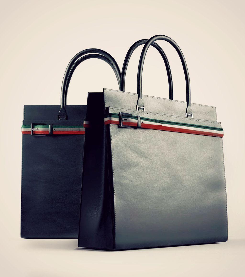 borsa donna modellazione e rendering