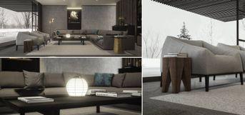 Poliform living scene Unreal Engine 4