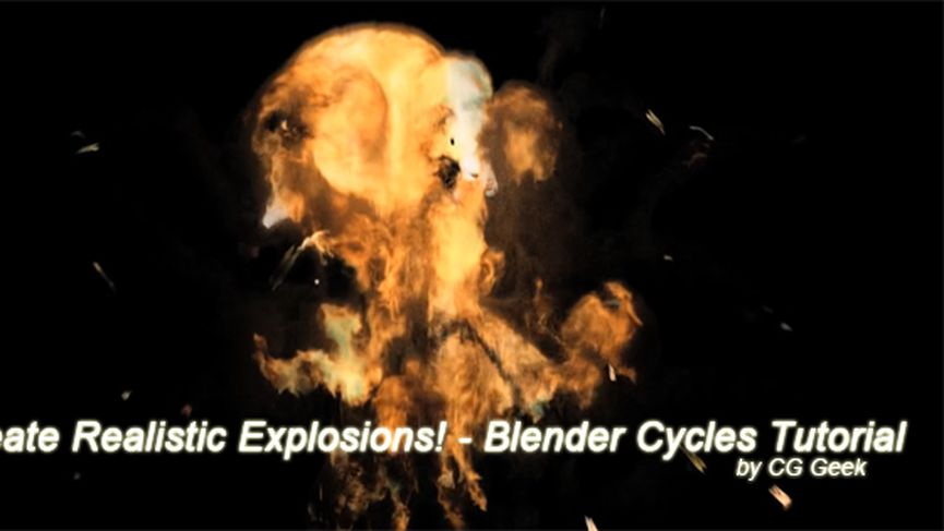 Create Realistic Explosions in Blender