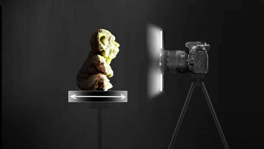 Fotogrammetria per la scansione di oggetti 3D per interni