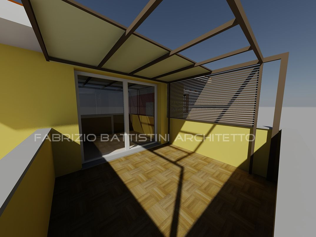 External shading system for a terrace
