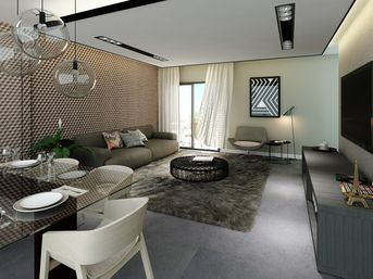 Living Room Residential Apartment / Sta Felicidade