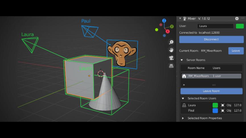 Mixer: un add-on Blender per la collaborazione in tempo reale