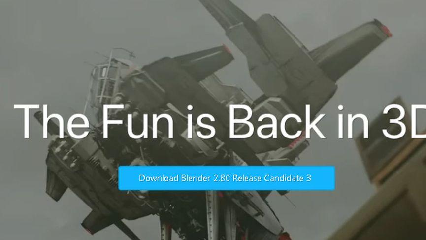 Blender 2.8 RC3 disponibile per il download