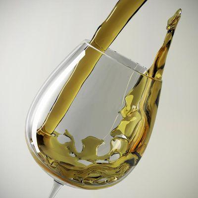 Wine White in the Glass