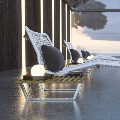 Evening pool dof view render Corona