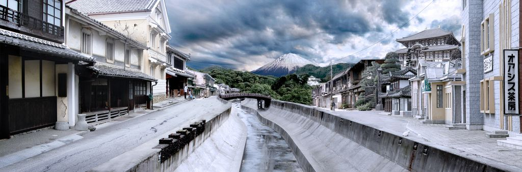 Matte painting - Cloudy nippon