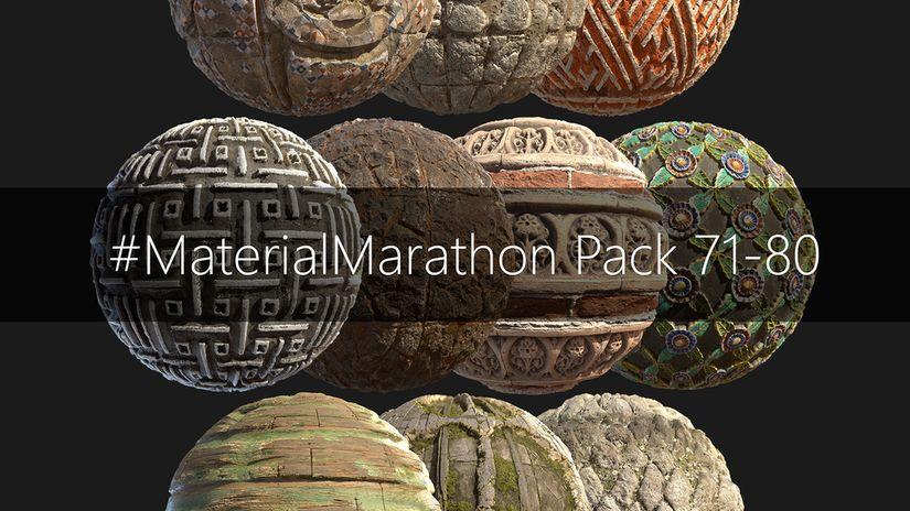 MasterialMarathon Pack: 80 texture 2K da scaricare gratuitamente